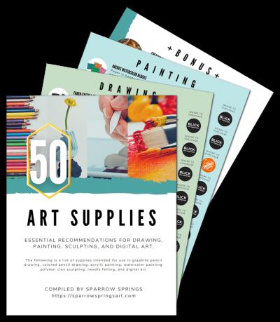 50 art supplies